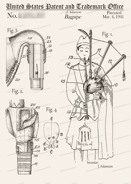 CARD-277: Bagpipe - Patent Press™