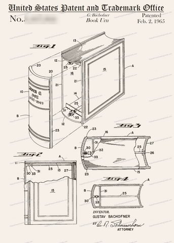 CARD-286: Book Urn - Patent Press™
