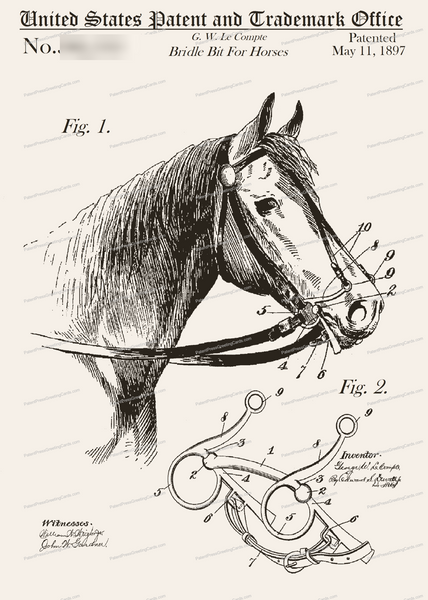 CARD-287: Bridle Bit - Patent Press™
