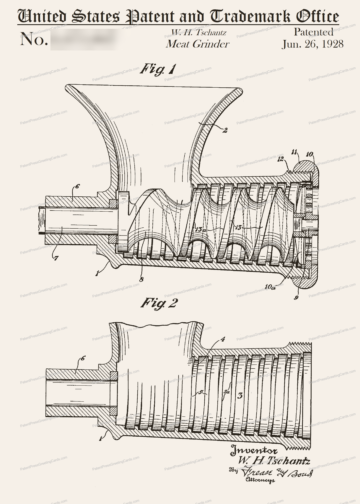 CARD-288: Meat Grinder - Patent Press™