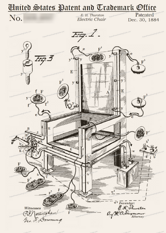 CARD-291: Electric Chair - Patent Press™