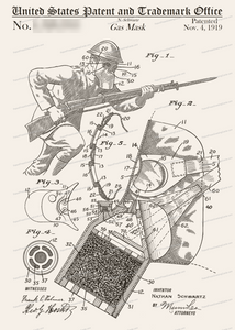 CARD-307: Gas Mask - Patent Press™