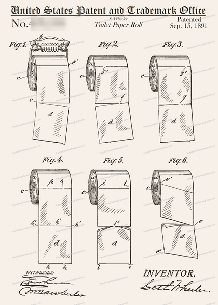 CARD-312: Toilet Paper Rolls - Patent Press™