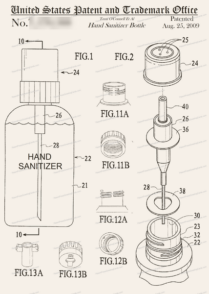CARD-313: Hand Sanitizer - Patent Press™