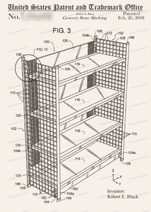 CARD-315: Grocery Store Shelving - Patent Press™