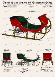 CARD-C801: Christmas Sleigh - Patent Press™