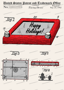 CARD-C803: Etcha-Sketch (Holiday) - Patent Press™