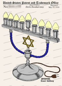 CARD-C804: Hanukkah Lamp - Patent Press™