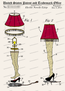CARD-C805: Leg Lamp - Patent Press™