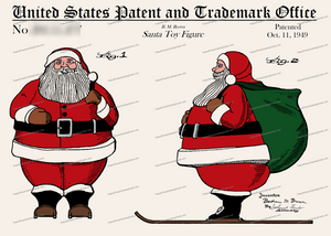 CARD-C807: Santa Figure - Patent Press™