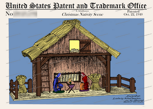 CARD-C809: Christmas Nativity Scene - Patent Press™