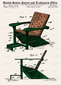 CARD-C901: Adirondak Chair - Patent Press™
