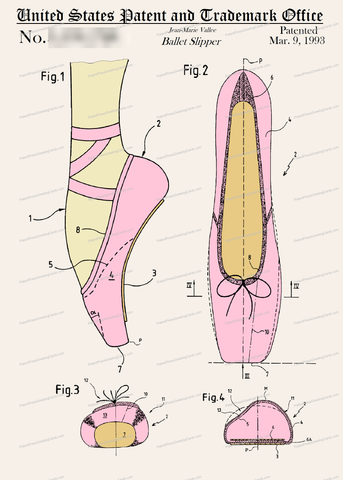 CARD-C902: Ballet Slipper - Patent Press™