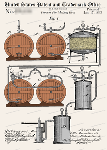 CARD-C904: Beer Making 1893 - Patent Press™