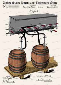 CARD-C905: Beer Tap System - Patent Press™