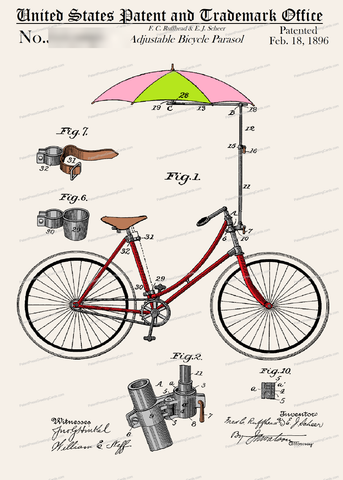 CARD-C906: Bicycle Parasol - Patent Press™