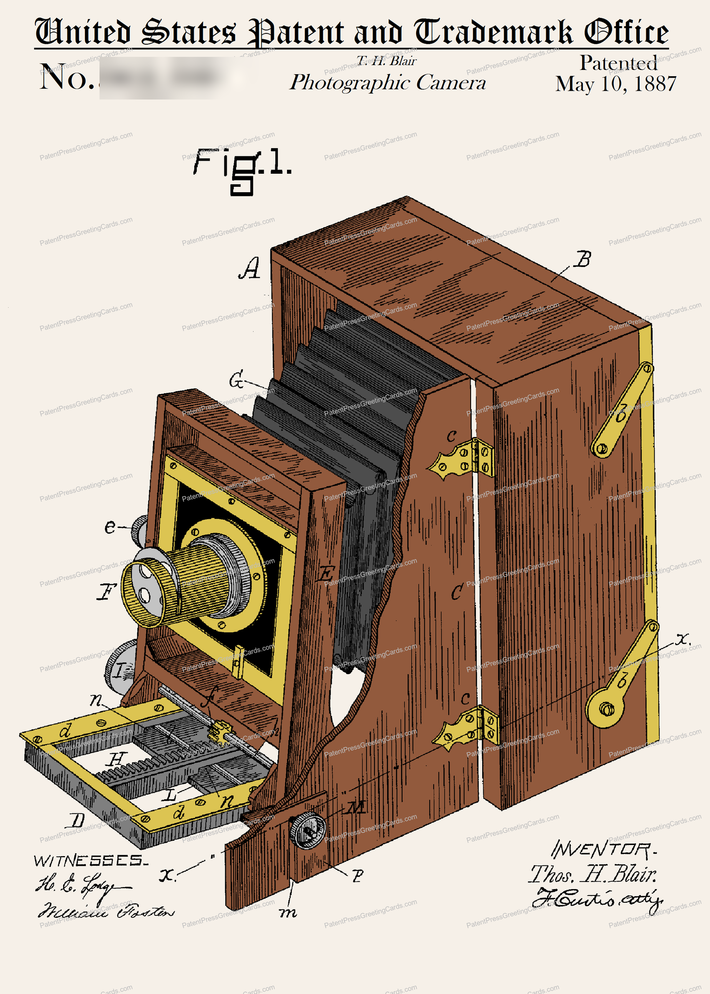 CARD-C907: Camera 1887 - Patent Press™
