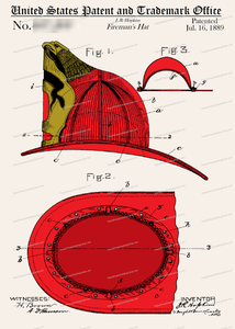 CARD-C909: Fireman's Hat 1889 - Patent Press™