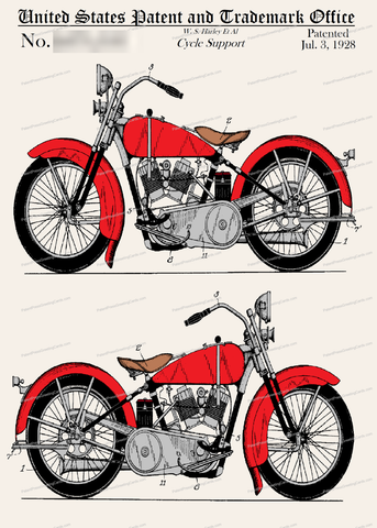 CARD-C912: Harley 1928 - Patent Press™