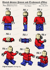CARD-C914: Lego Figure - Patent Press™