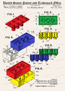 CARD-C915: Legos - Patent Press™
