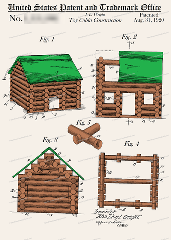 CARD-C916: Lincoln Logs - Patent Press™