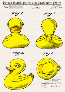 CARD-C923: Rubber Ducky - Patent Press™