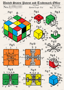 CARD-C924: Rubik's Cube - Patent Press™