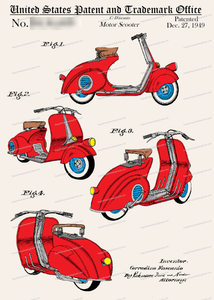 CARD-C926: Scooter - Patent Press™