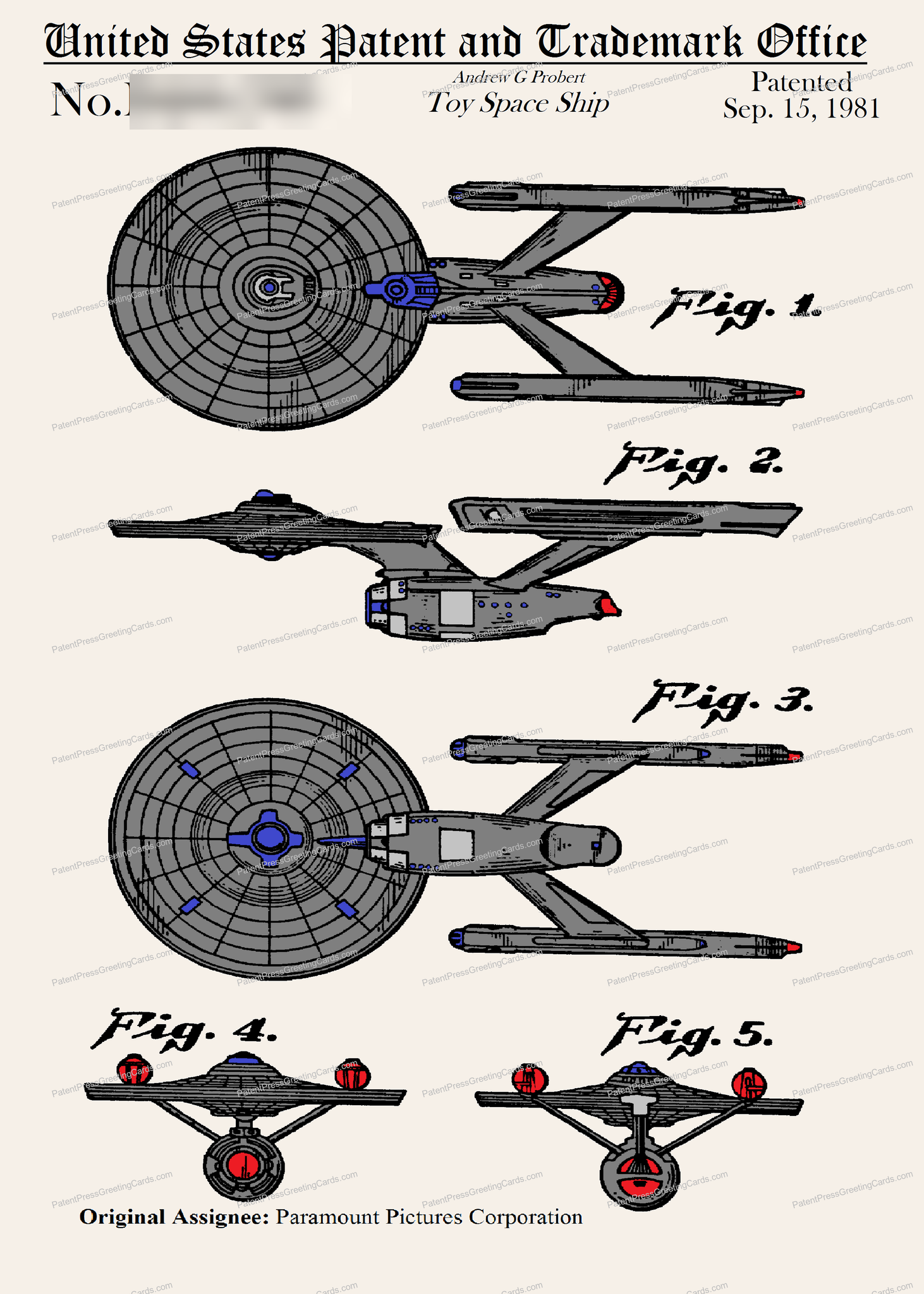 CARD-C928: Star Trek Enterprize 1981 - Patent Press™