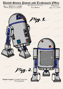 CARD-C929: Star Wars R2d2 - Patent Press™
