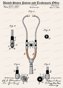 CARD-C930: Stethoscope1882 - Patent Press™