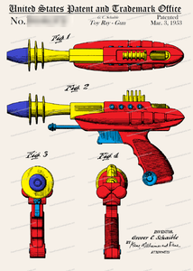 CARD-C931: Toy Ray Gun - Patent Press™