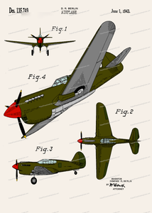 CARD-C937: Airplane (Wwii) - Patent Press™