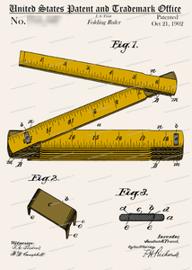 CARD-C945: Folding Ruler - Patent Press™