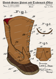 CARD-C947: L.L. Bean Boot - Patent Press™