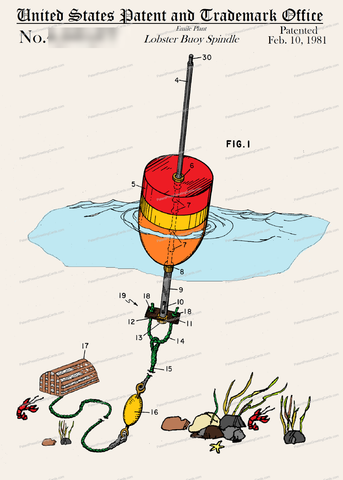 CARD-C948: Lobster Buoy - Patent Press™