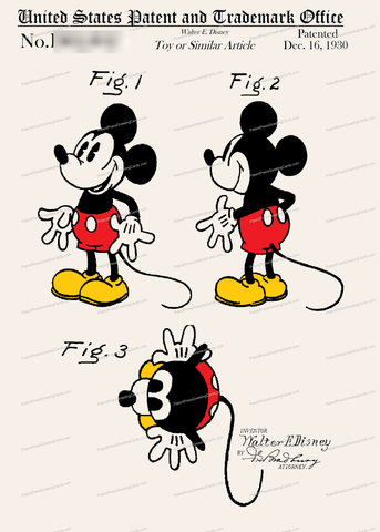CARD-C949: Mickey Mouse - Patent Press™