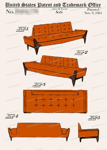 CARD-C950: Pearsall Sofa - Patent Press™