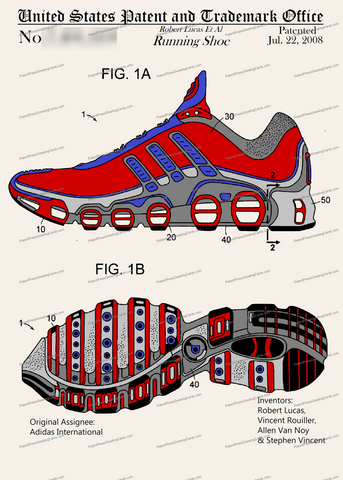 CARD-C951: Adidas Running Shoe - Patent Press™