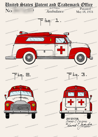 CARD-C952: Ambulance - Patent Press™
