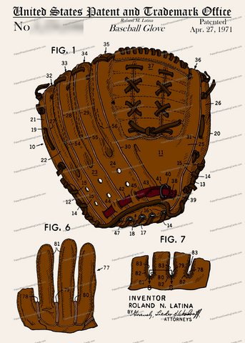 CARD-C955: Baseball Glove - Patent Press™