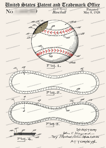 CARD-C956: Baseball - Patent Press™