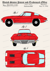 CARD-C961: Corvette Stingray - Patent Press™