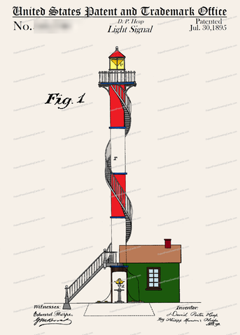 CARD-C962: Lighthouse - Patent Press™