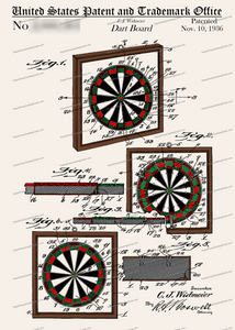 CARD-C970: Dart Board - Patent Press™