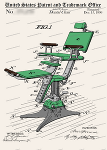 CARD-C971: Dental Chair - Patent Press™