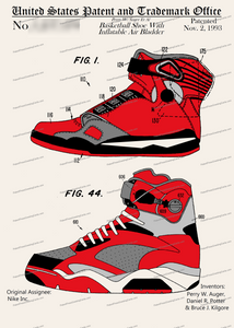 CARD-C988: Nike Air Sneakers - Patent Press™