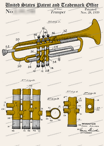 CARD-C994: Trumpet - Patent Press™