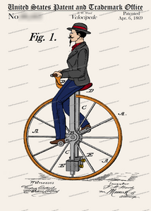 CARD-C996: Velocipede 1869 - Patent Press™
